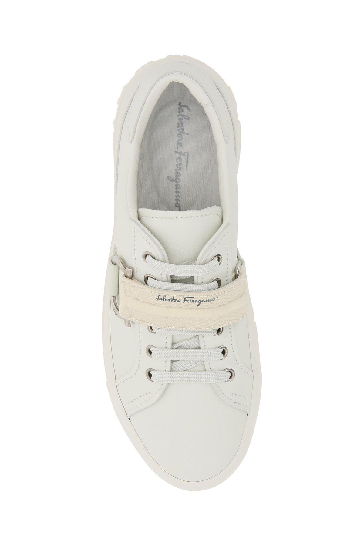 Salvatore ferragamo sneakers in pelle pharrel