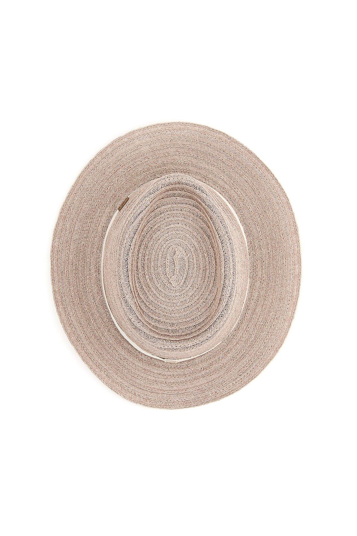 Maison michel cappello trilby in canapa intrecciata andre