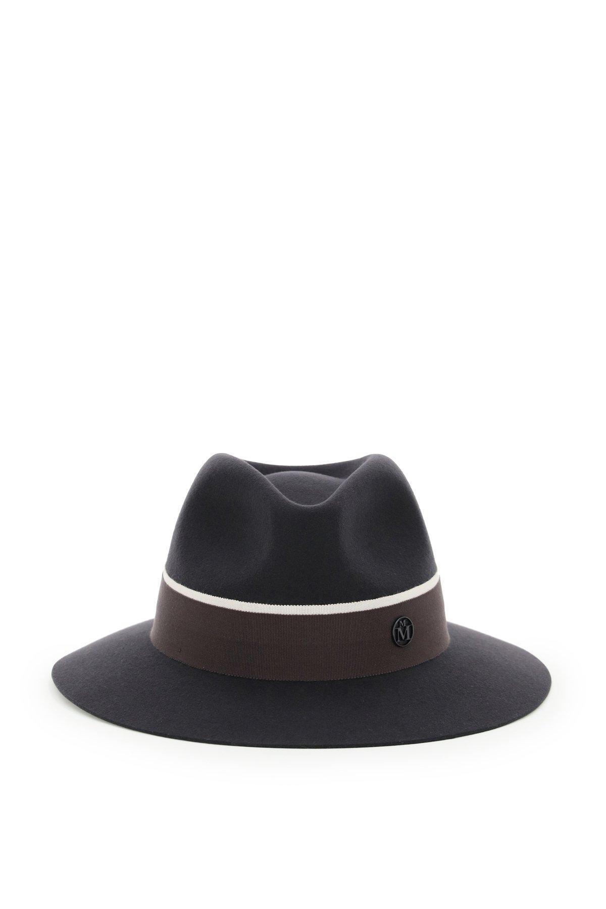Maison michel cappello fedora in feltro rico