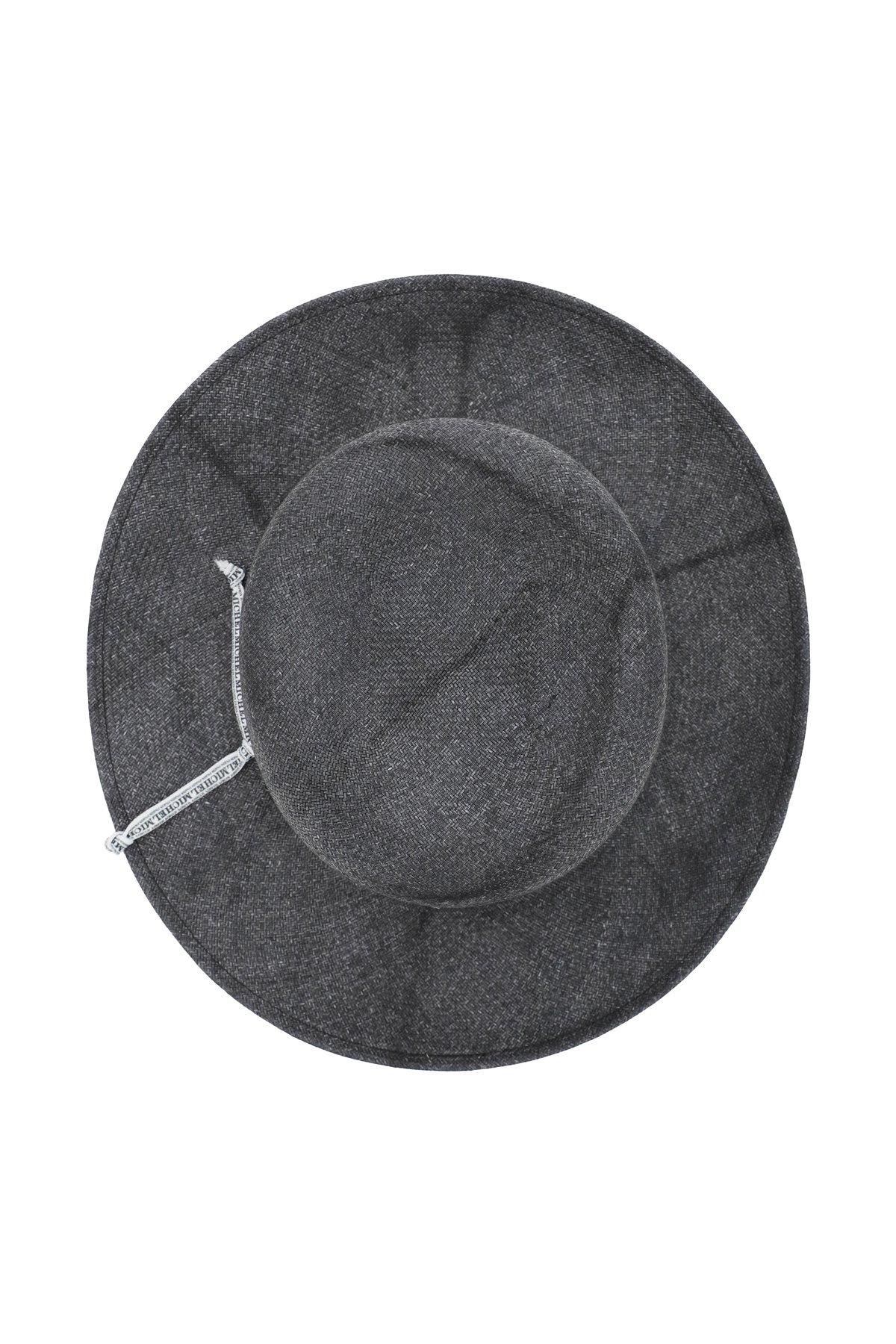 Maison michel cappello intrecciato rollable new kendall