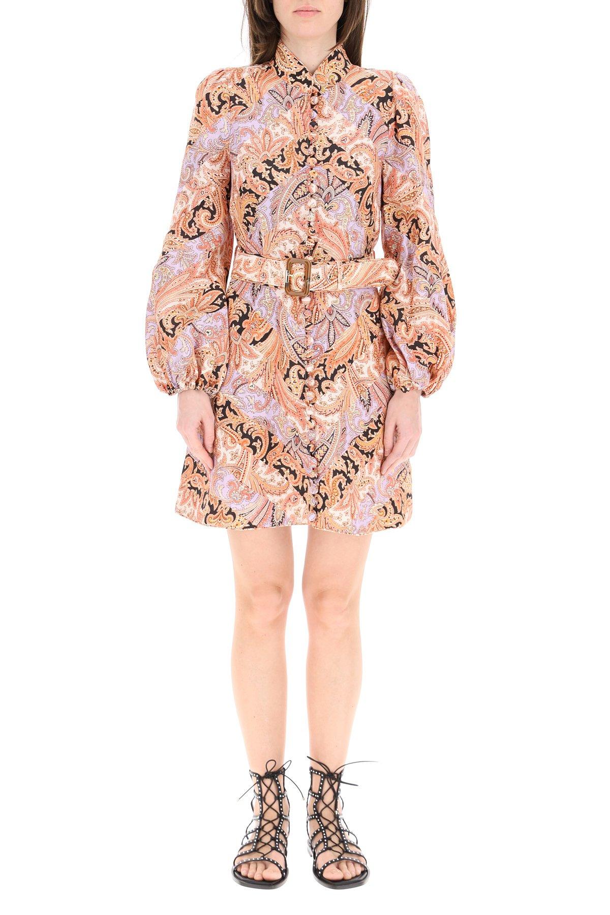 Zimmermann mini abito botanica chevron paisley