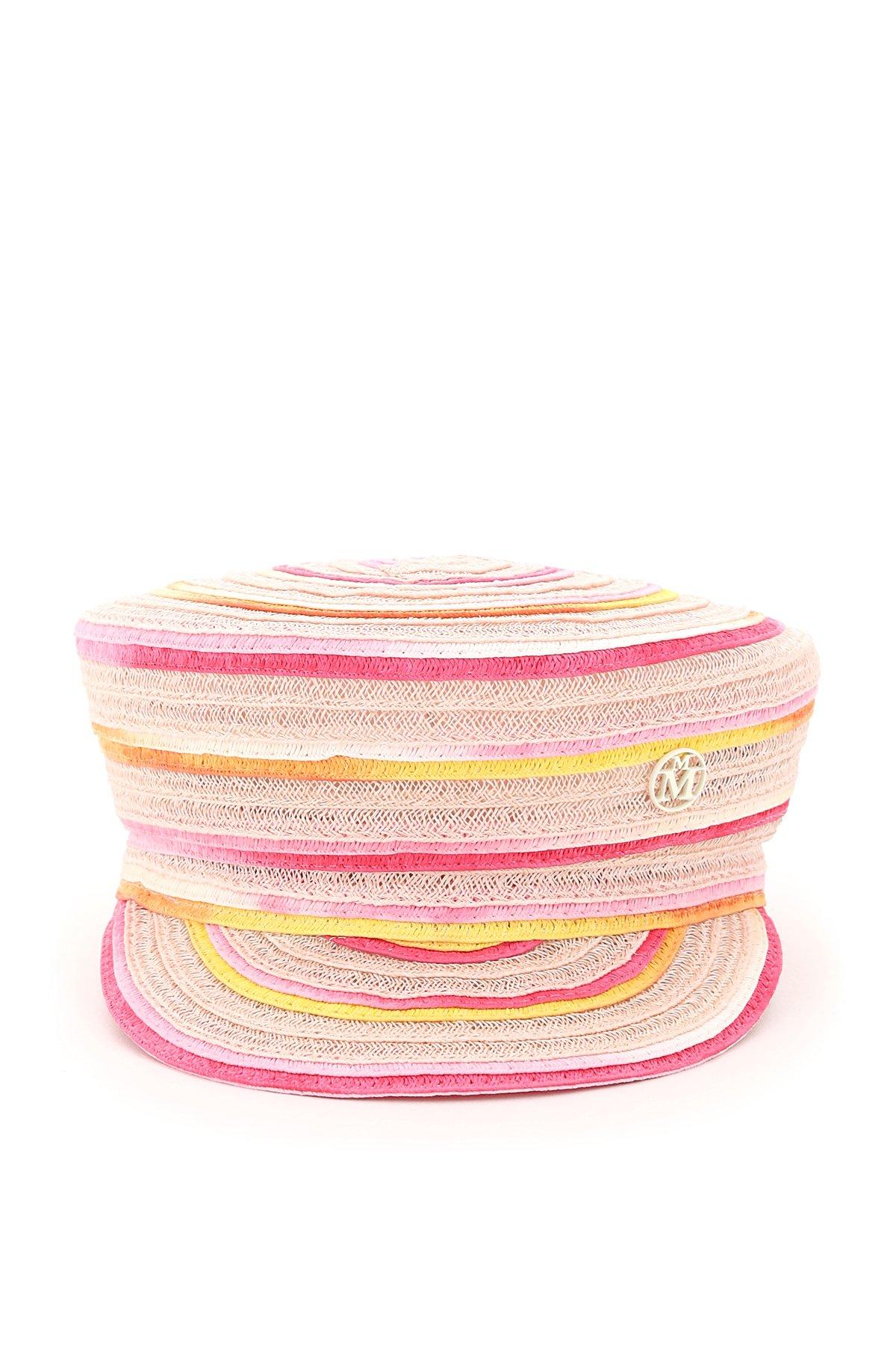 Maison michel basco abby intrecciato tie-dye