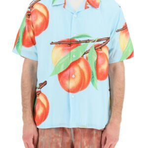 Stussy camicia hawaii stampa peach