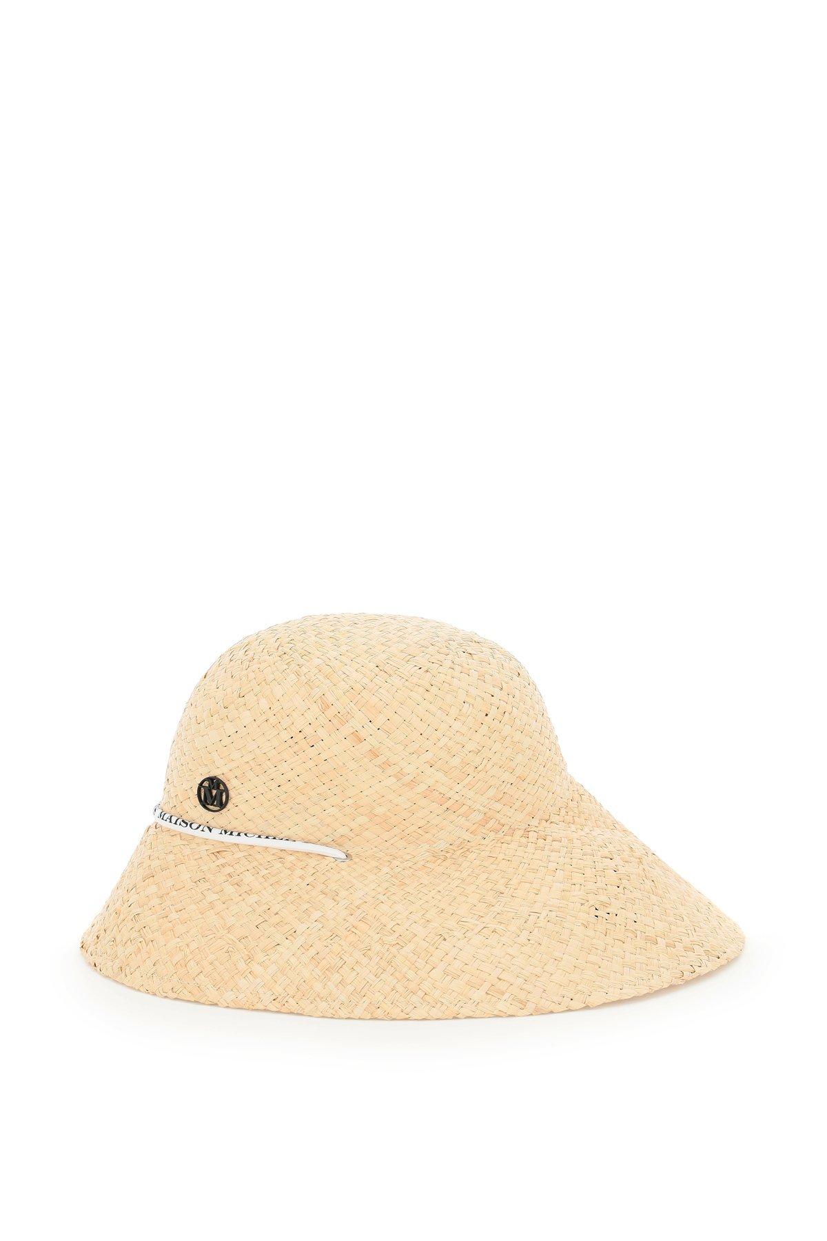 Maison michel cappello in rafia julianne