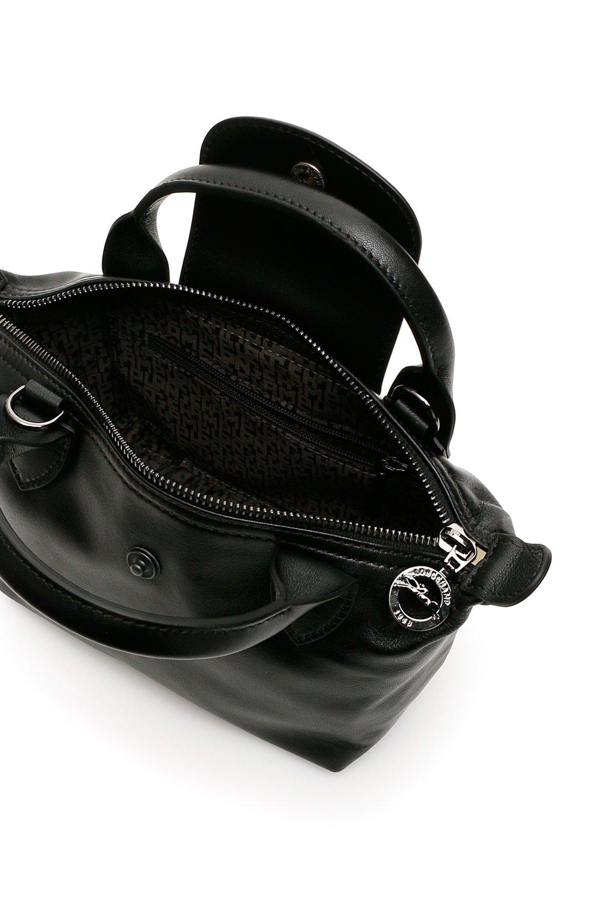 Longchamp borsa a mano logo le pliage cuir mini