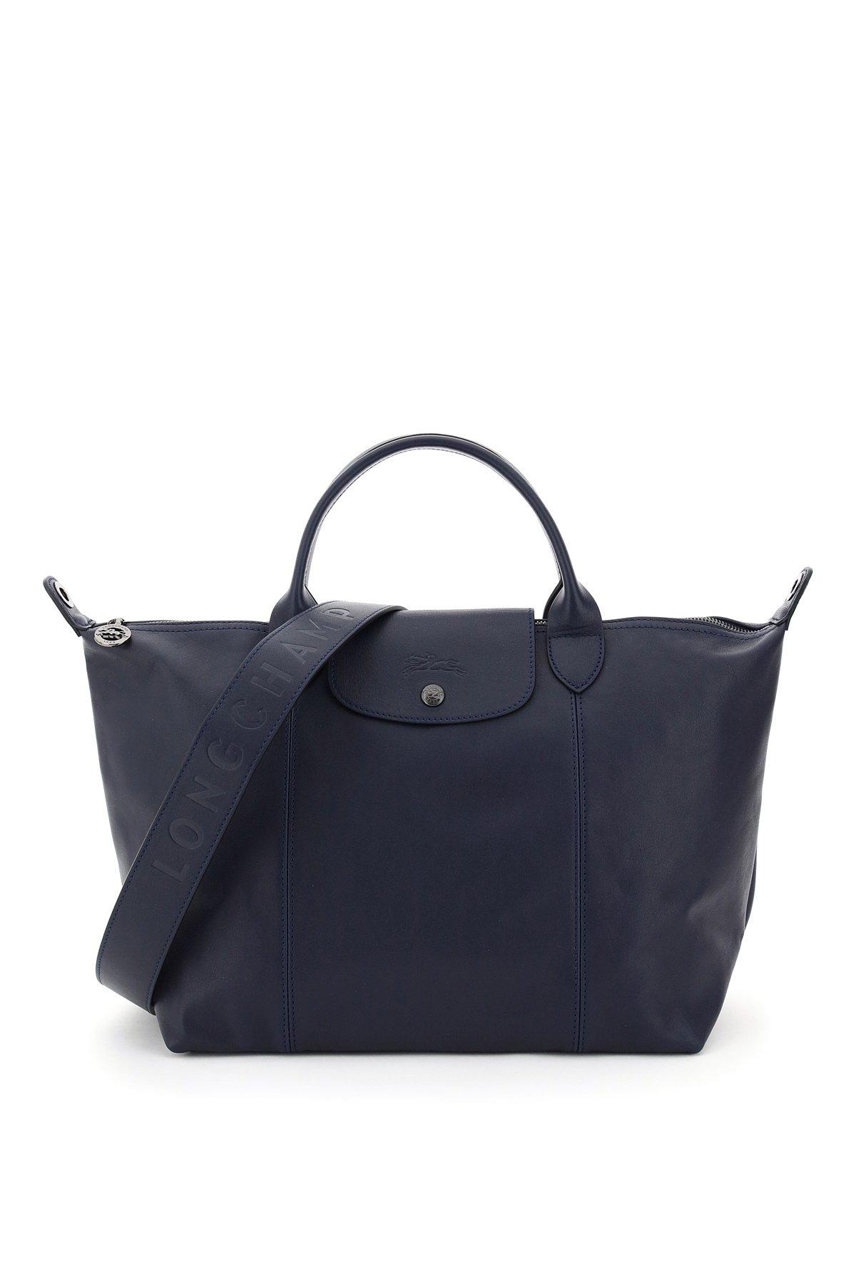 Longchamp borsa a mano le pliage cuir medium