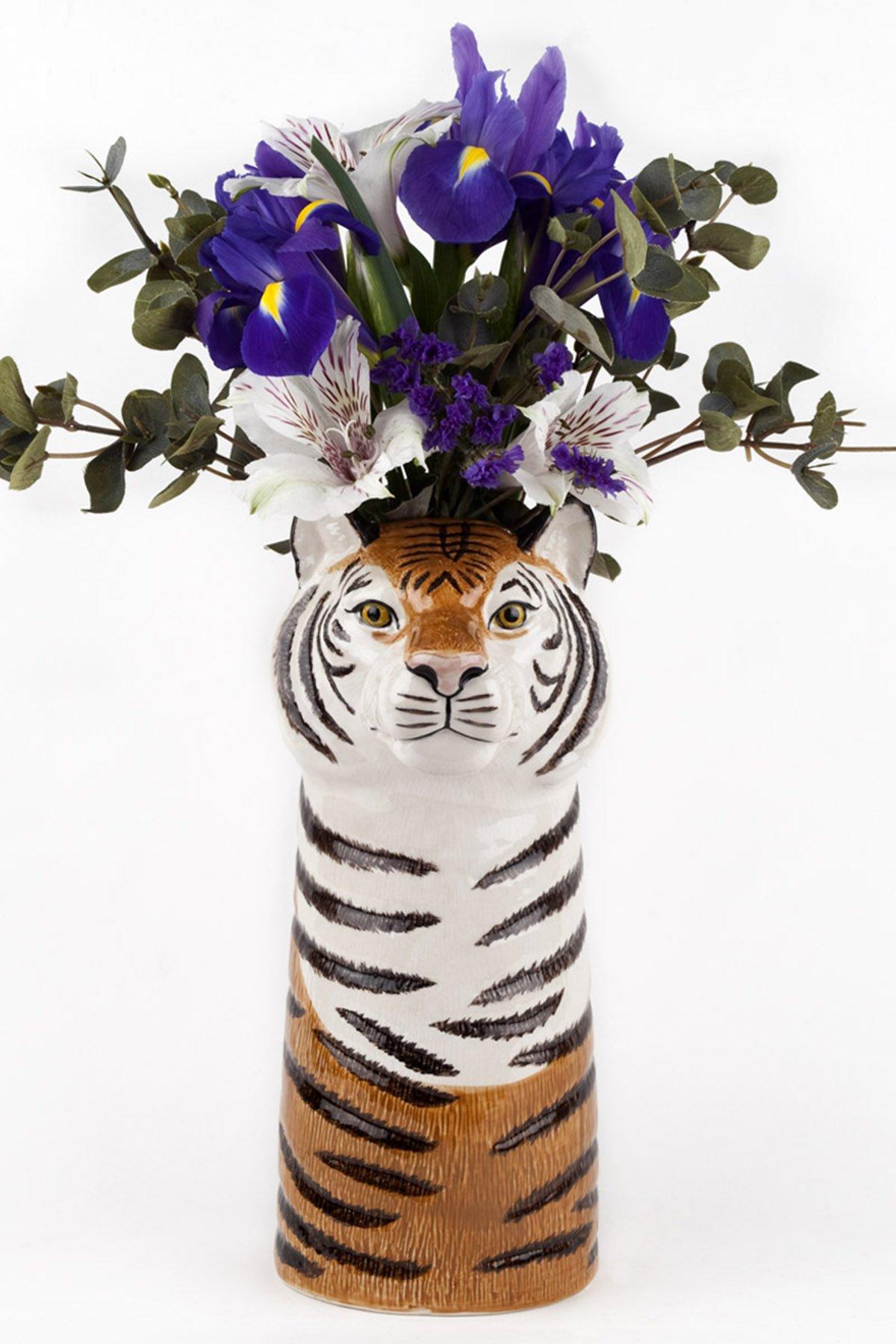 Quail ceramics vaso tigre