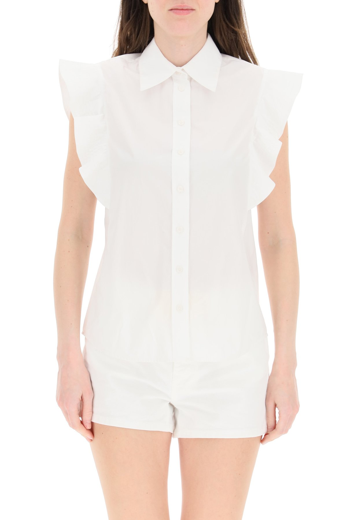 Pinko camicia con rouches nakoma 1