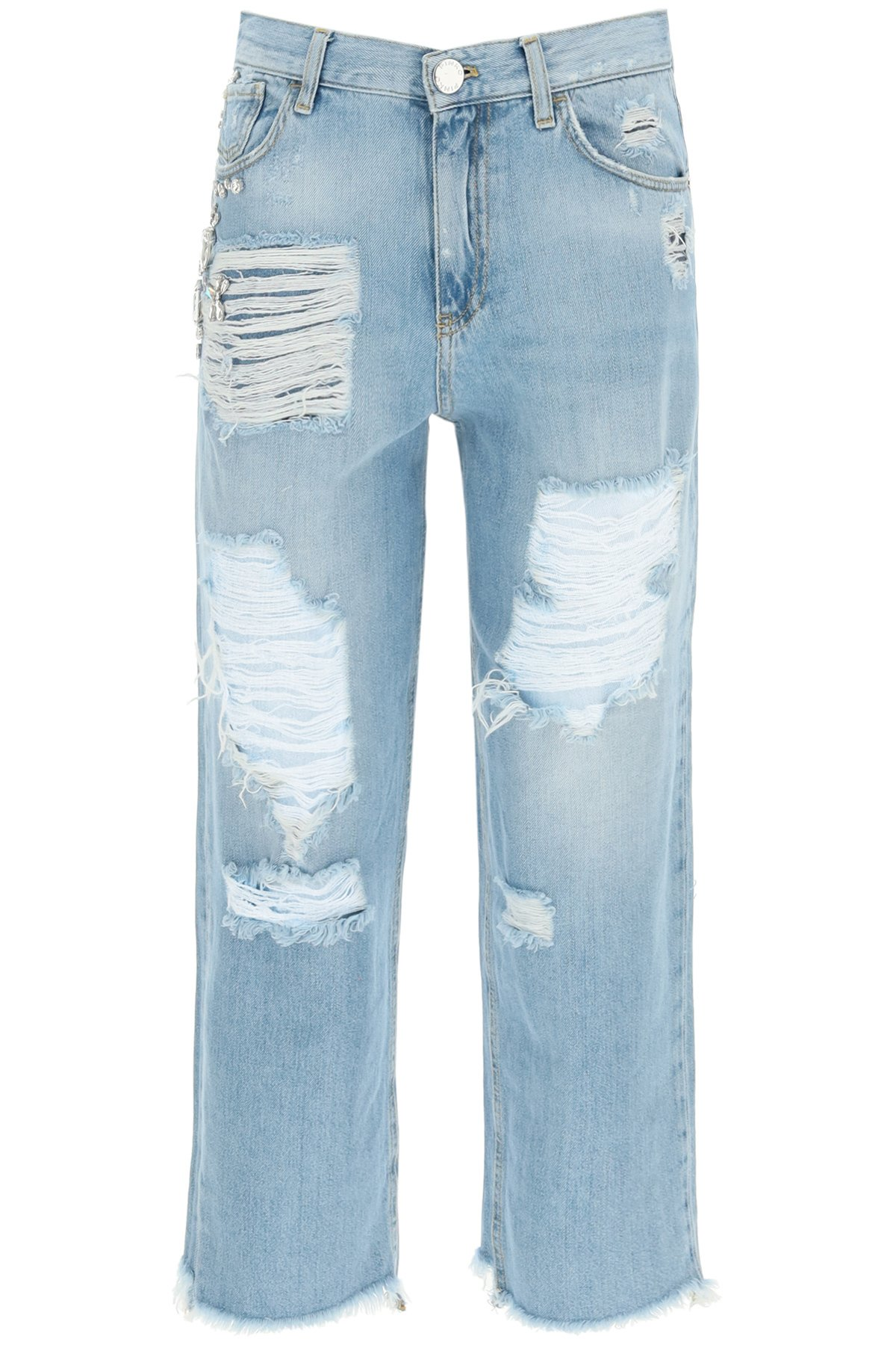 Pinko jeans maddie mom-fit con strass
