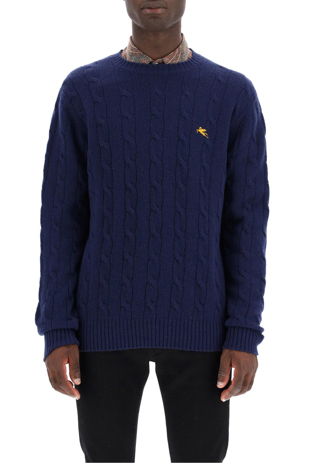 Etro pullover in lana a trecce