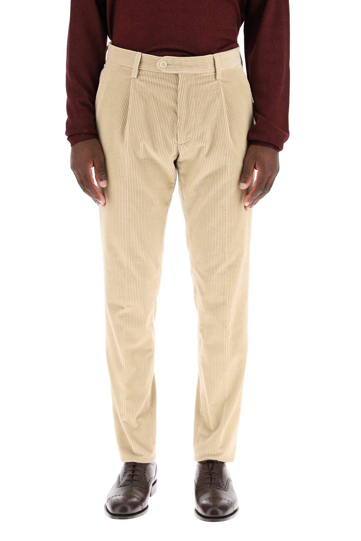 Etro pantaloni velluto