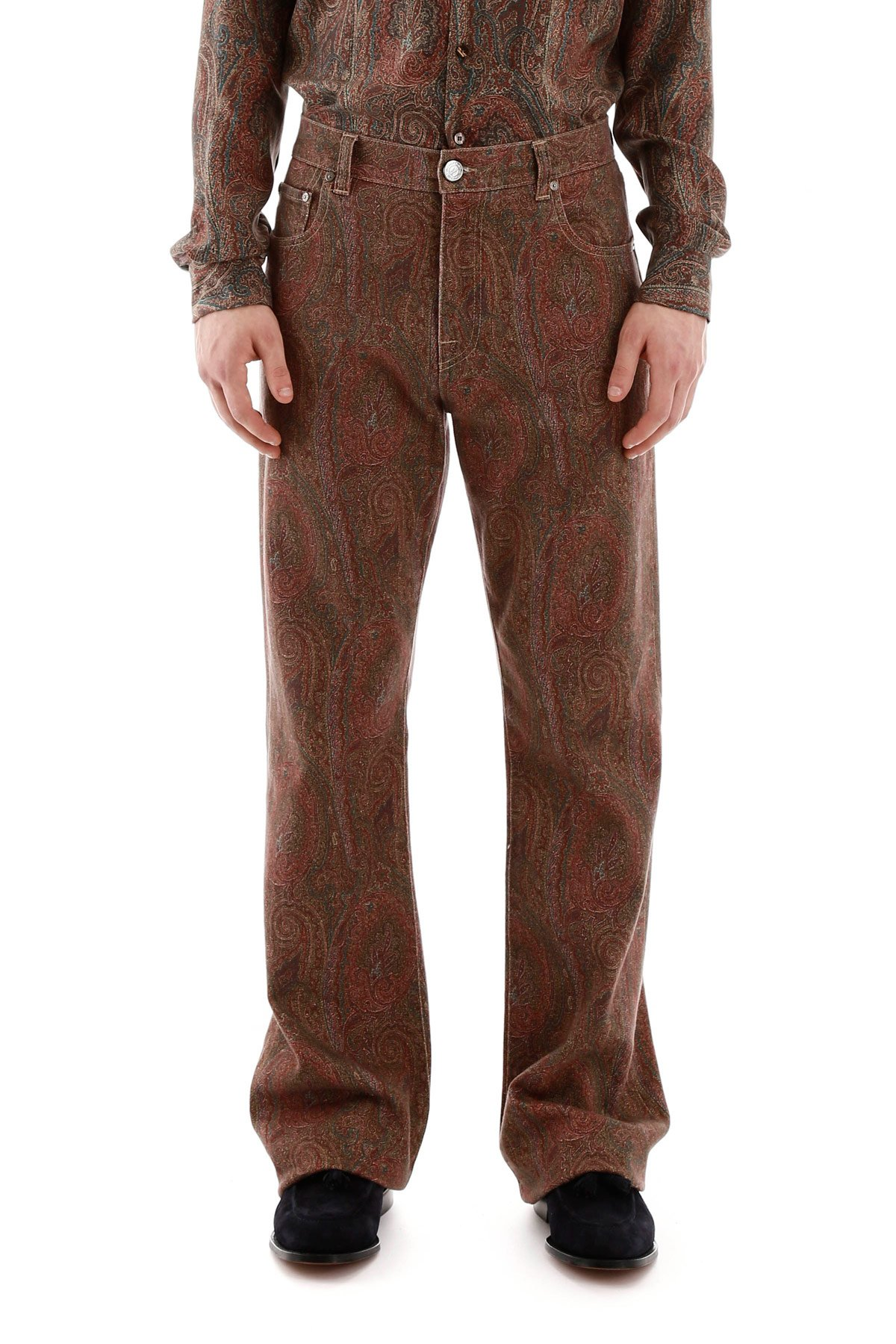 Etro jeans stampa paisley