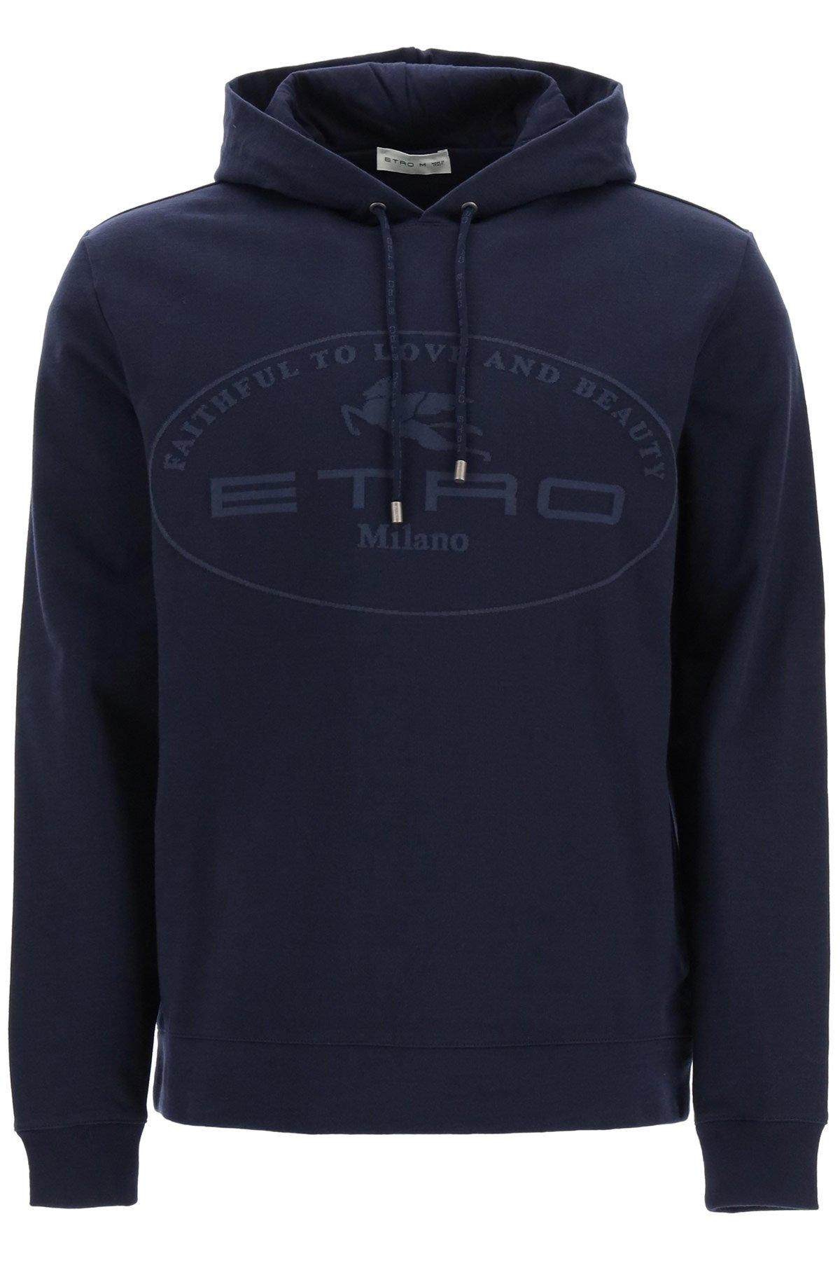 Etro felpa con cappuccio logo