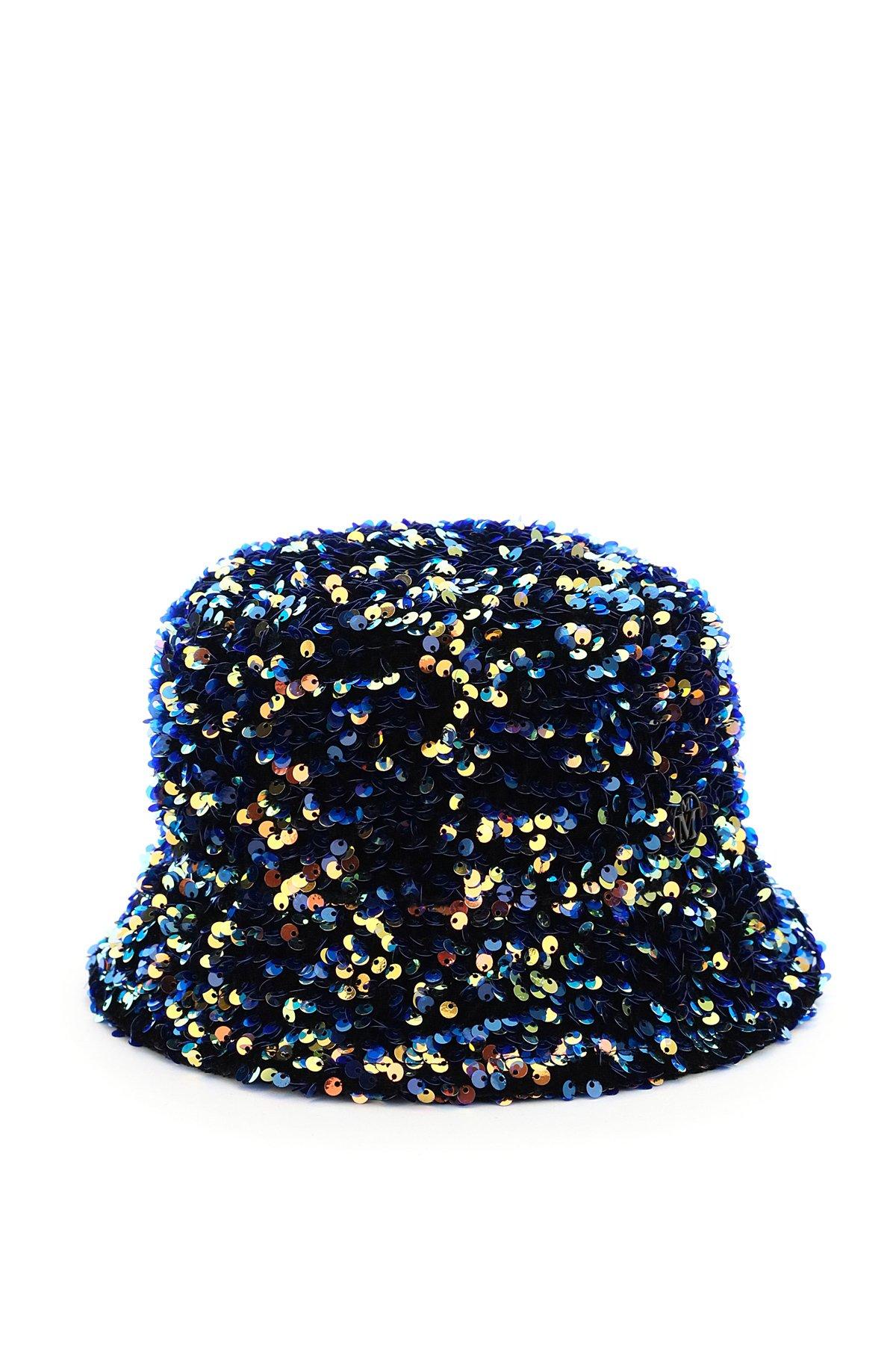 Maison michel cappello bucket paillettes axel flora
