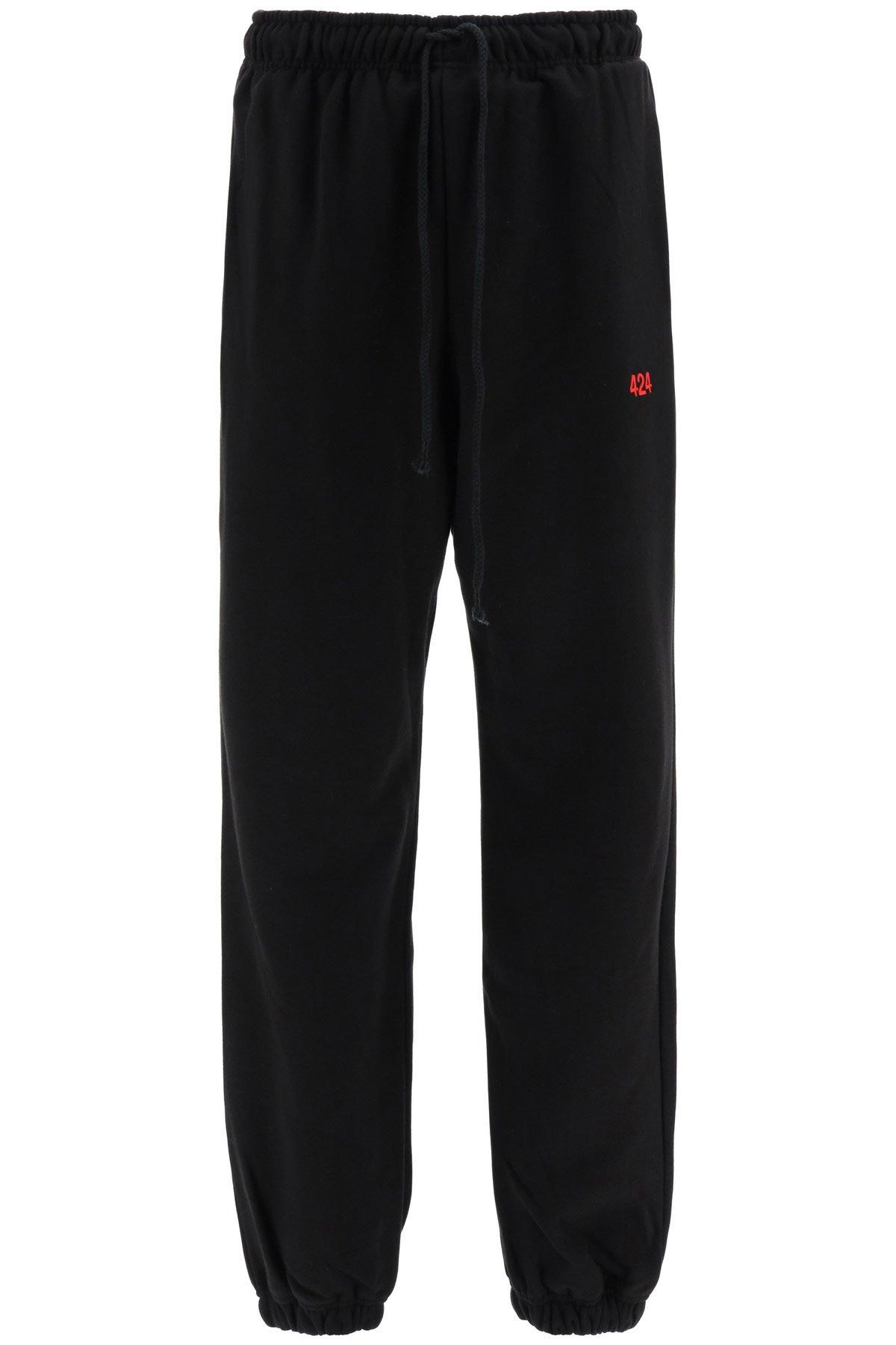 424 pantaloni jogger ricamo logo