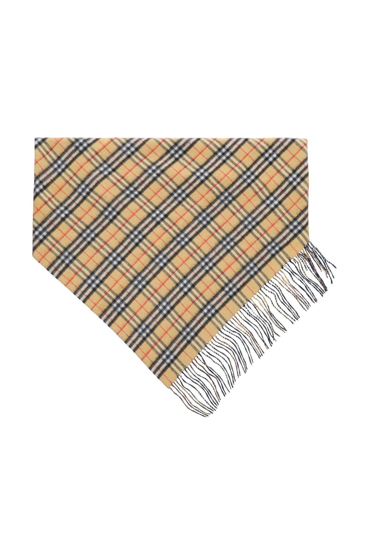 Burberry sciarpa cachemire doppio strato bandana vintage check