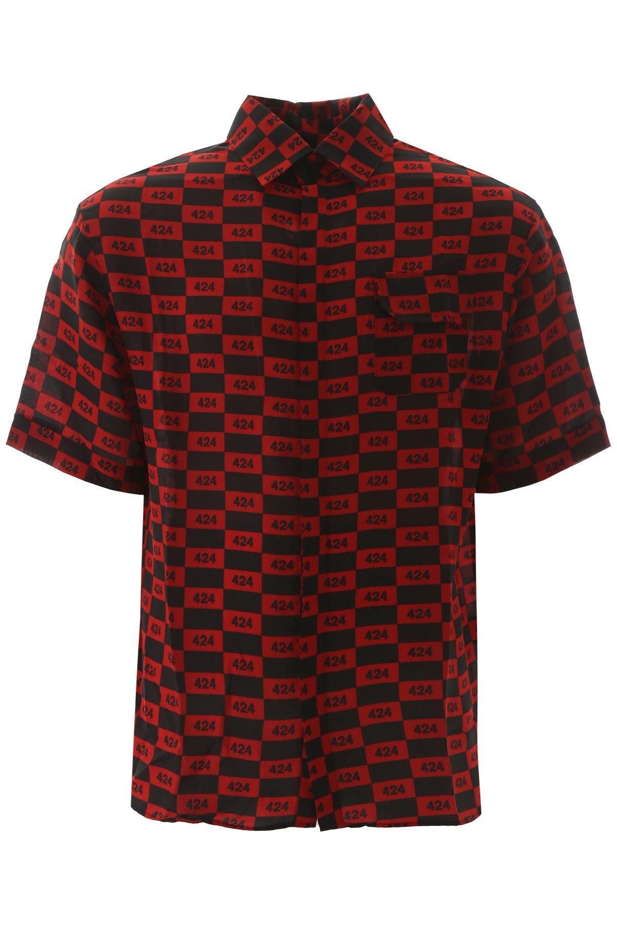 424 camicia monogram