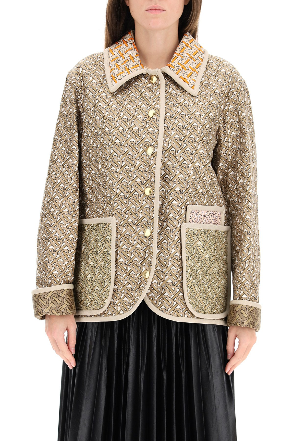 Burberry giacca quilted monogram