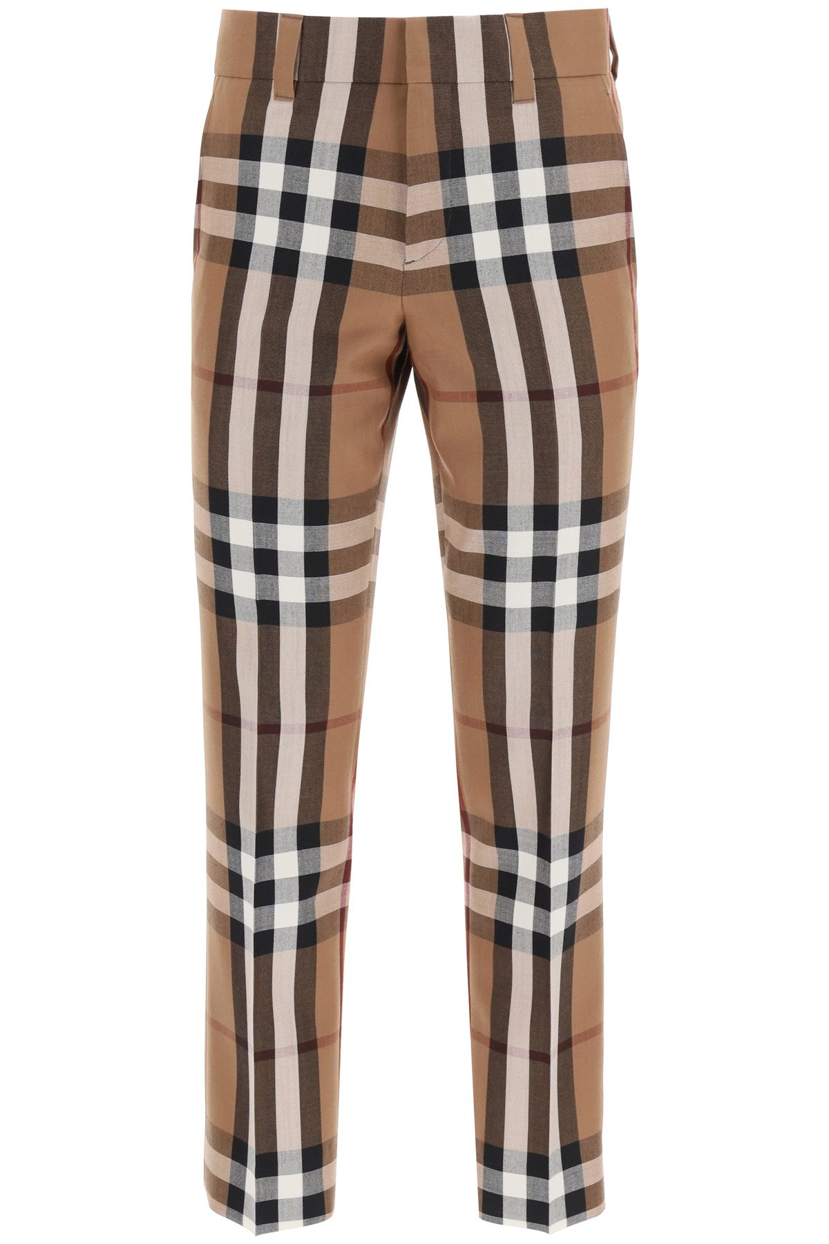 Burberry pantaloni in lana house check