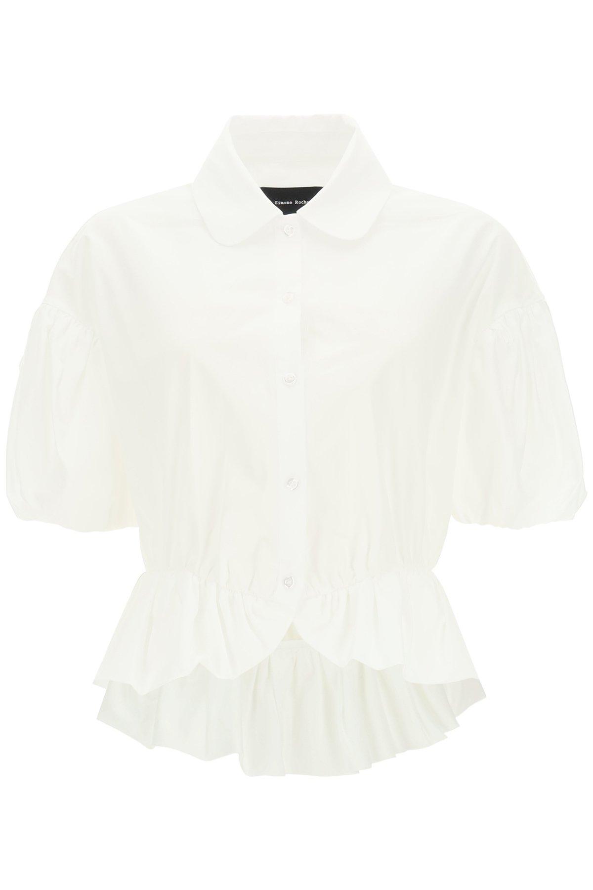 Simone rocha camicia peplum