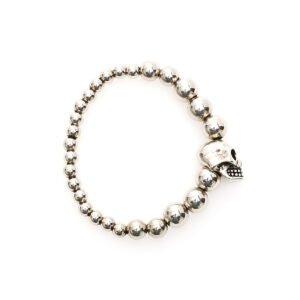 Alexander mcqueen bracciale skull perle degradé
