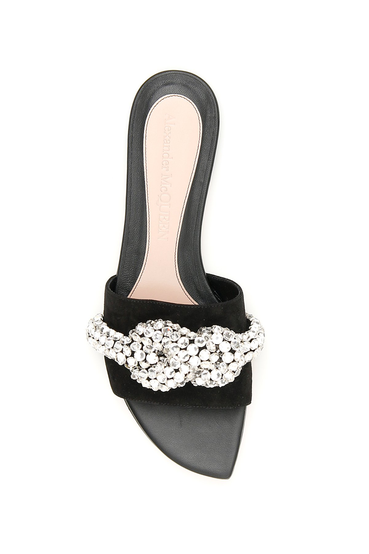 Alexander mcqueen mules crystal knot