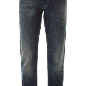 Alexander mcqueen jeans con impunture a contrasto