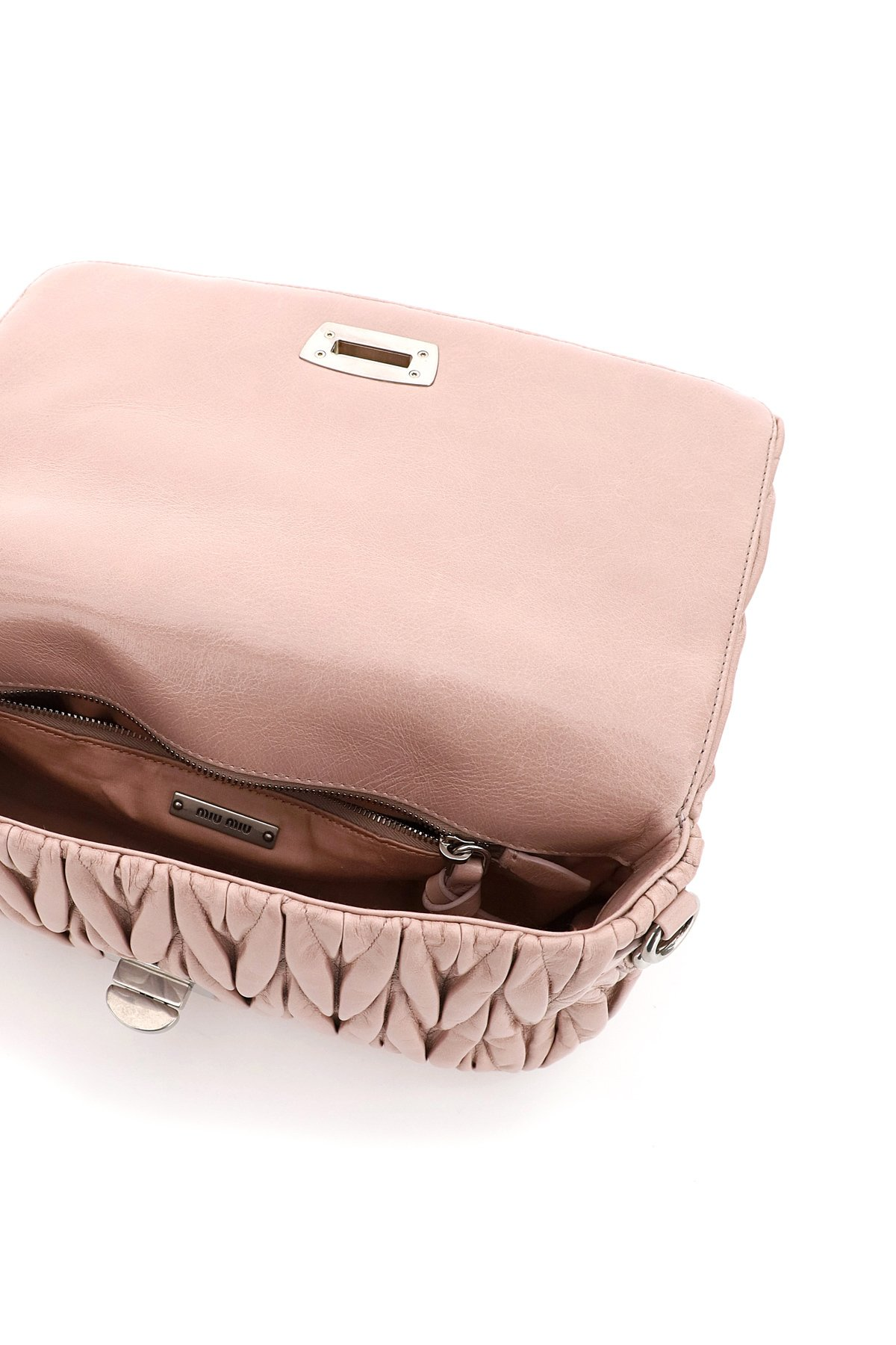 Miu miu borsa matelassé tracolla con pouch