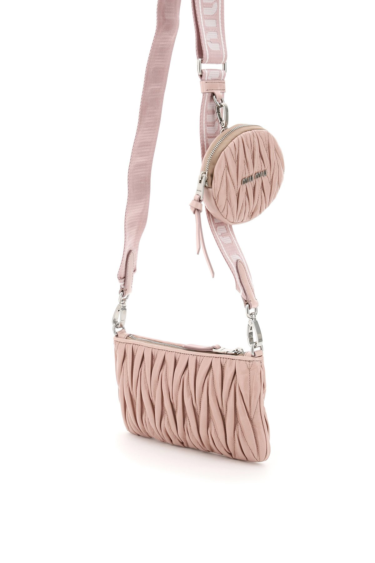 Miu miu mini bag matelasse' tracolla con pouch