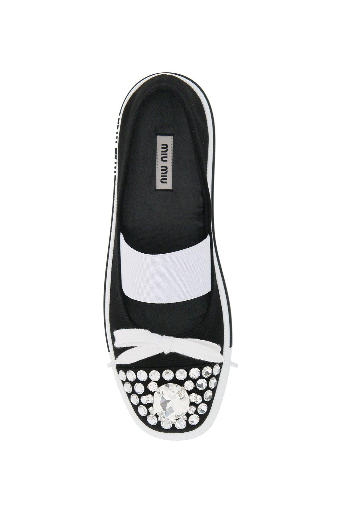 Miu miu sneakers ballerine crystal gabardine