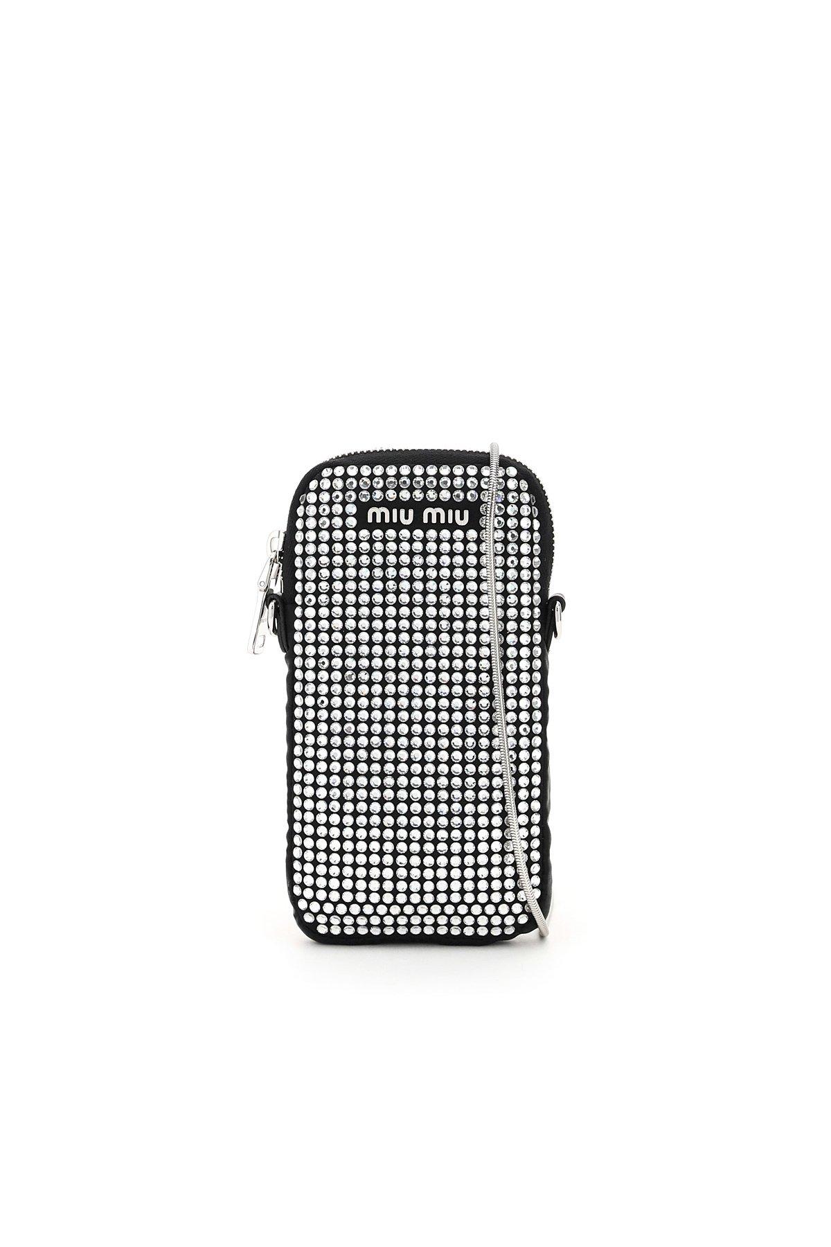 Miu miu mini bag phone holder starlight