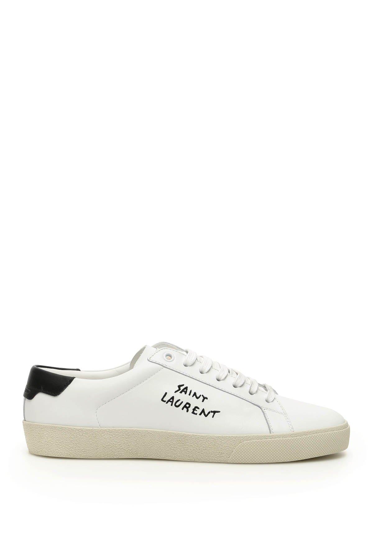 Saint laurent sneaker in pelle sl06 signature