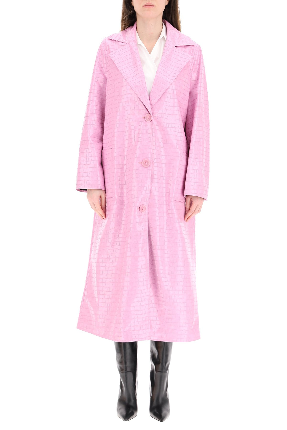 Stand cappotto mollie in ecopelle