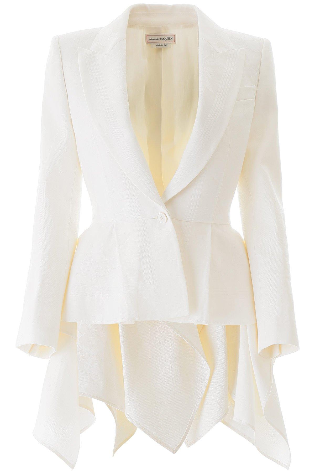Alexander mcqueen blazer lino damascato