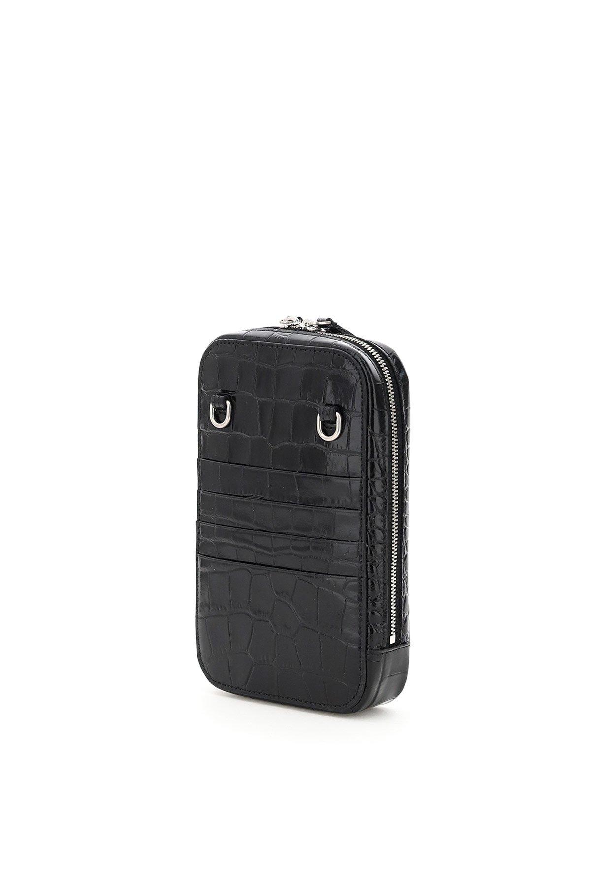 Balenciaga phone bag con tracolla cash logo