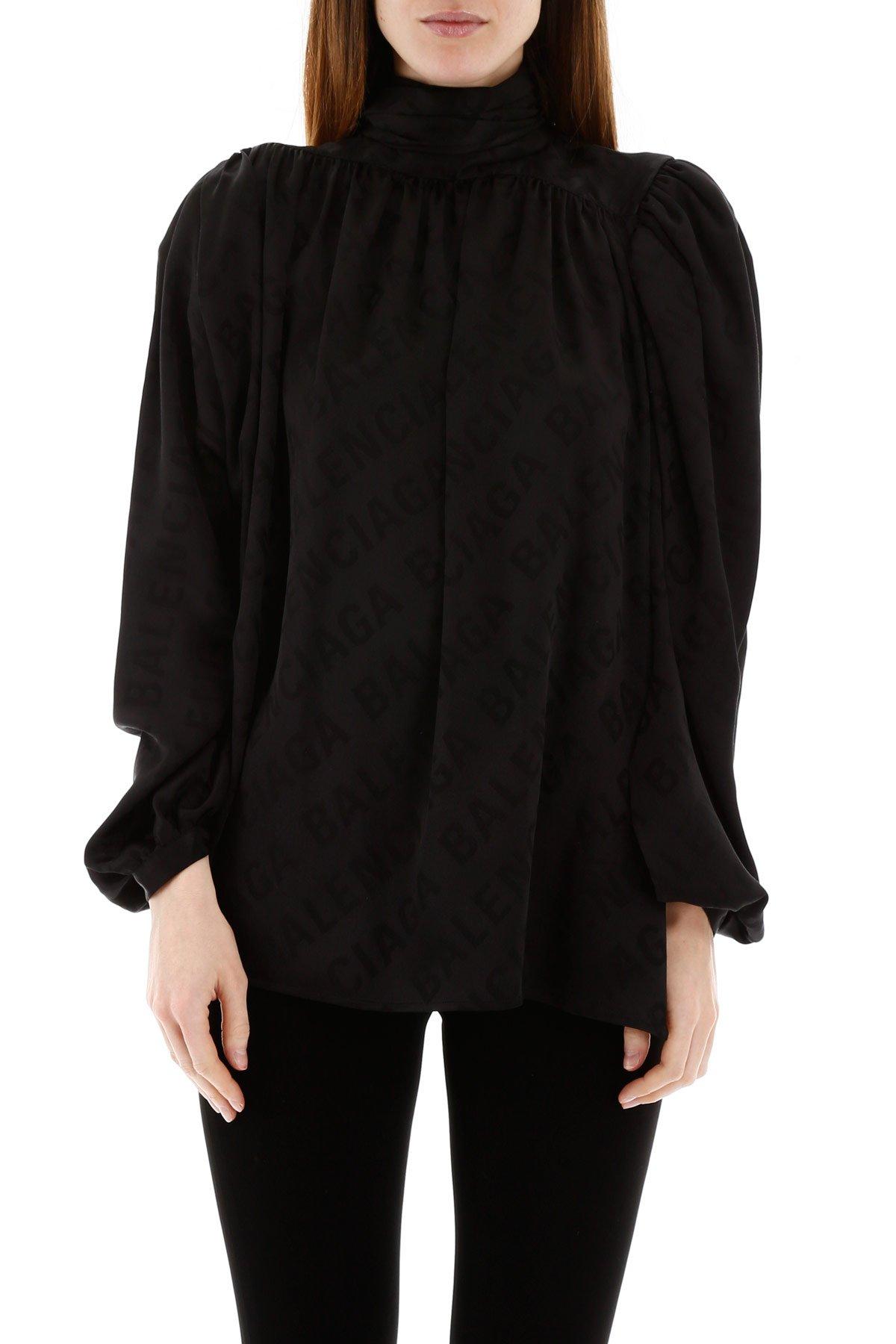 Balenciaga camicia logo jacquard