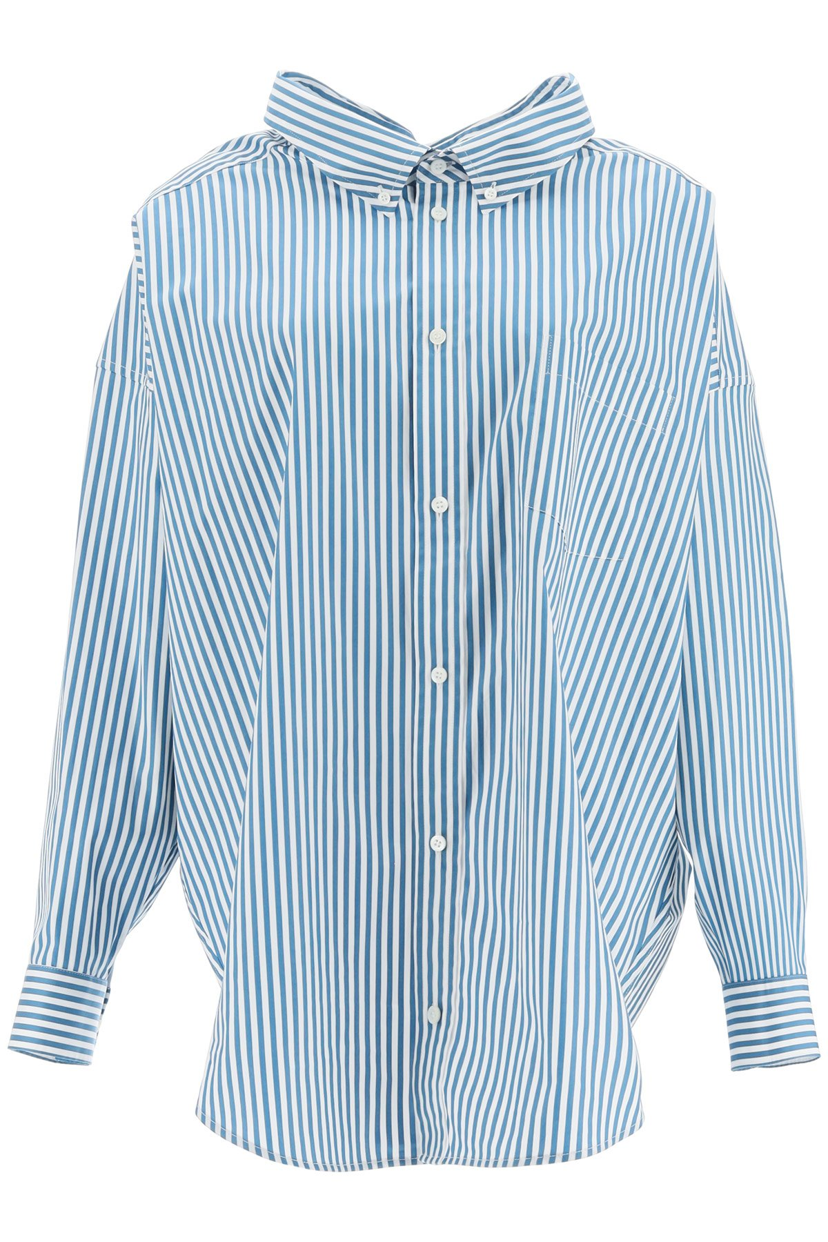 Balenciaga camicia swing con logo on back