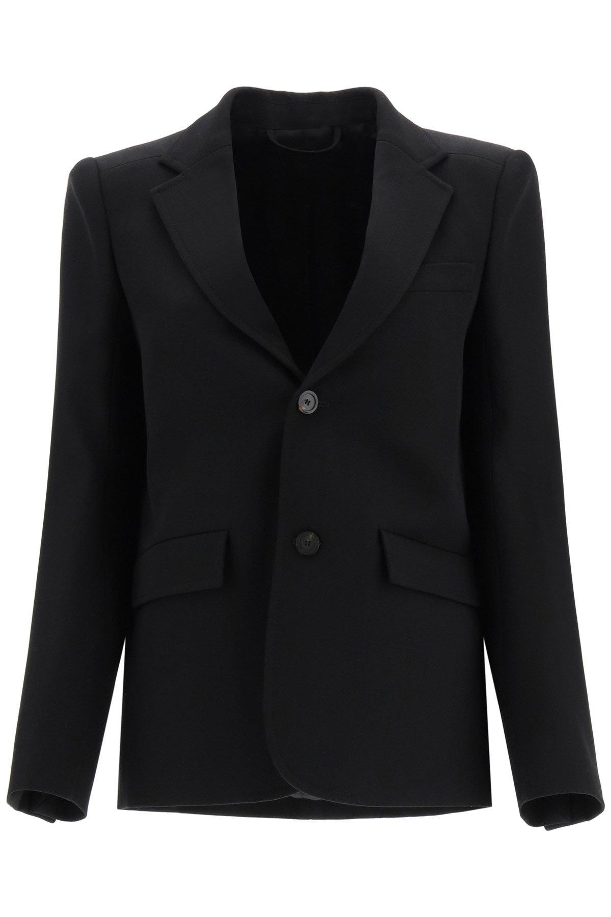 Balenciaga blazer curved shoulder