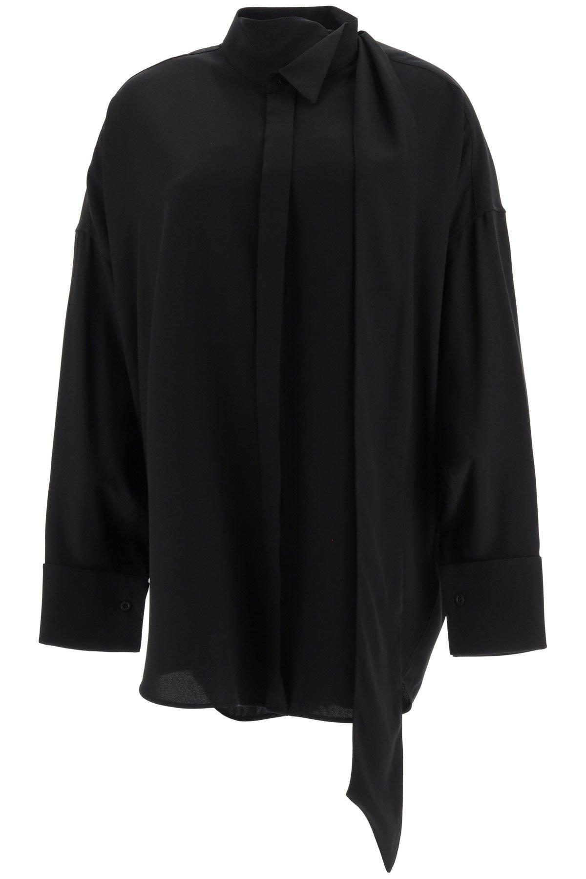 Balenciaga camicia tuxedo con lavalliere
