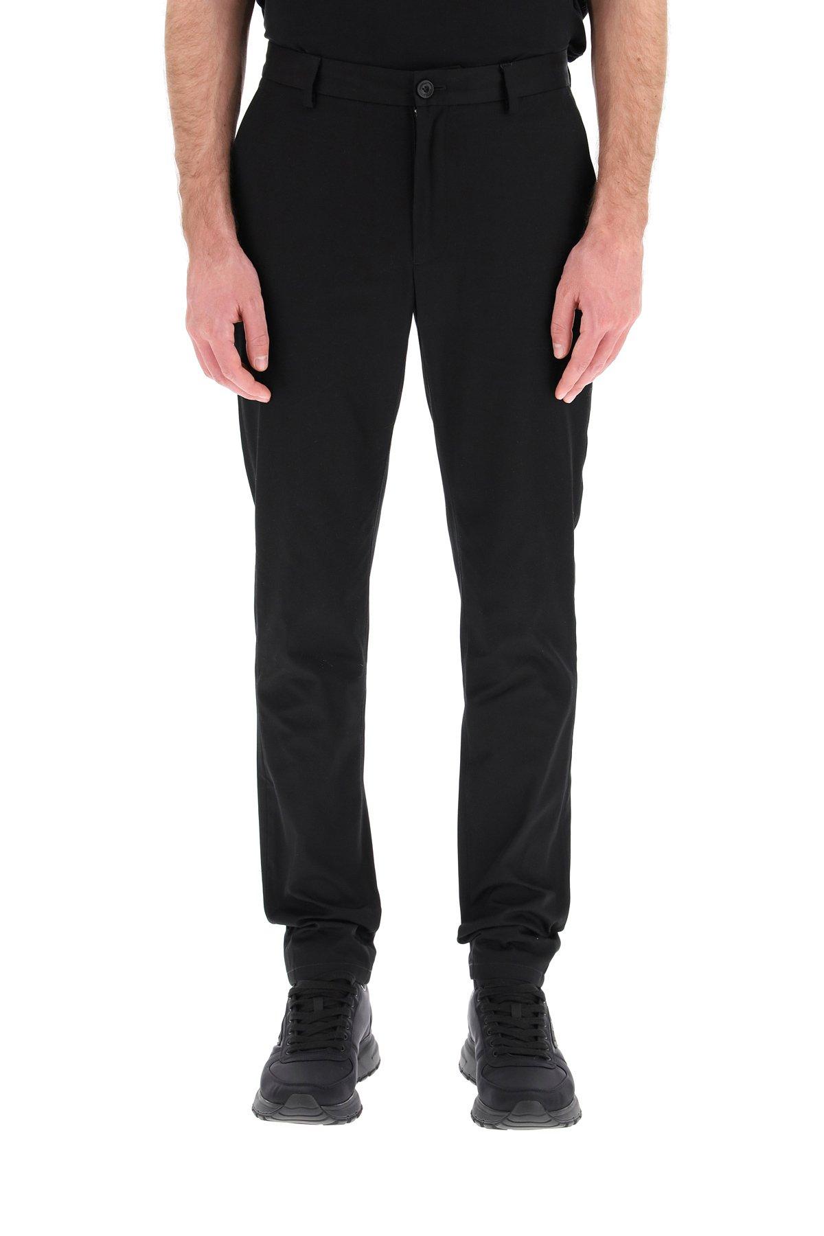 Burberry pantaloni in cotone shibden