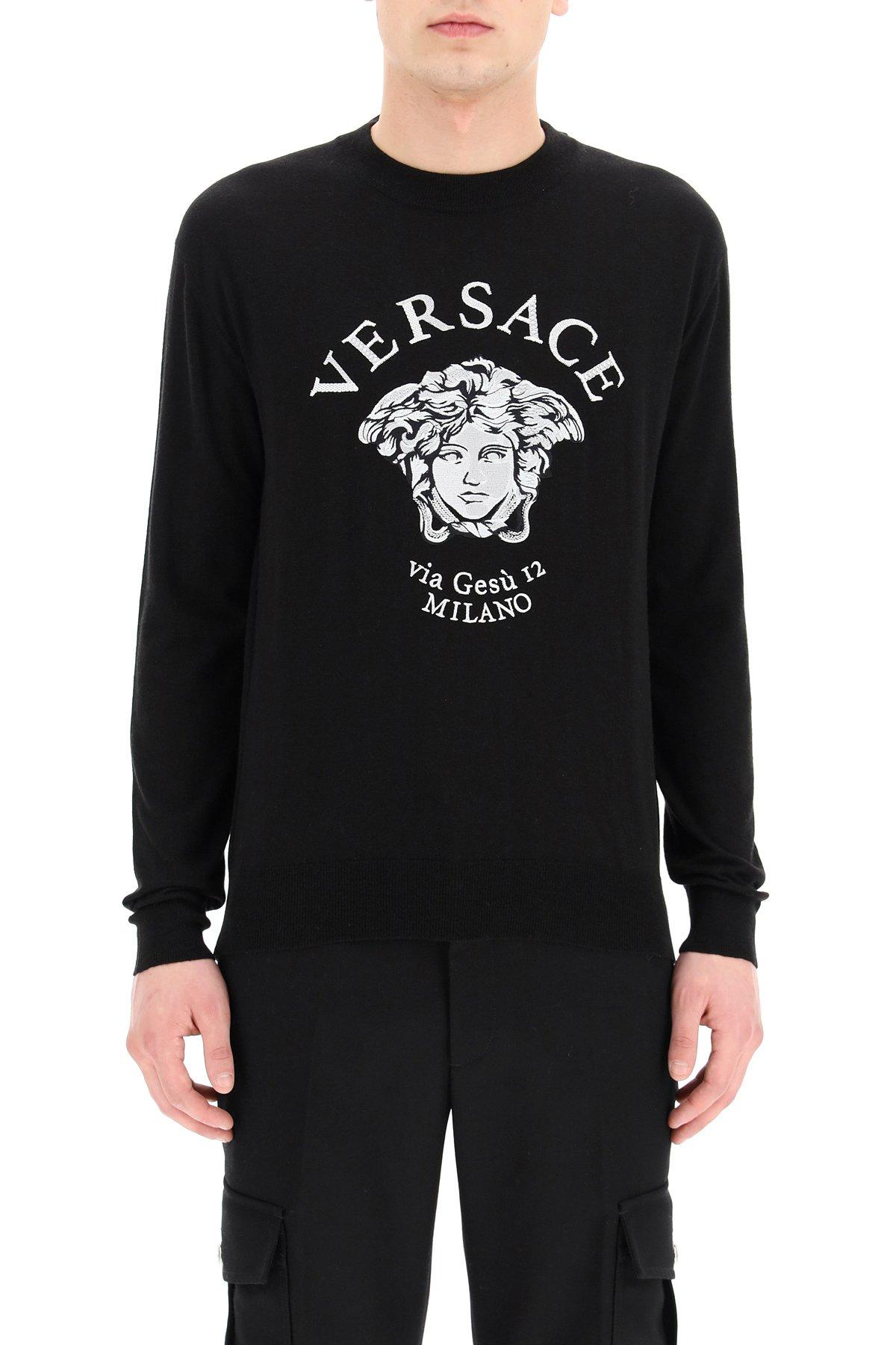 Versace pullover intarsio medusa via gesù12