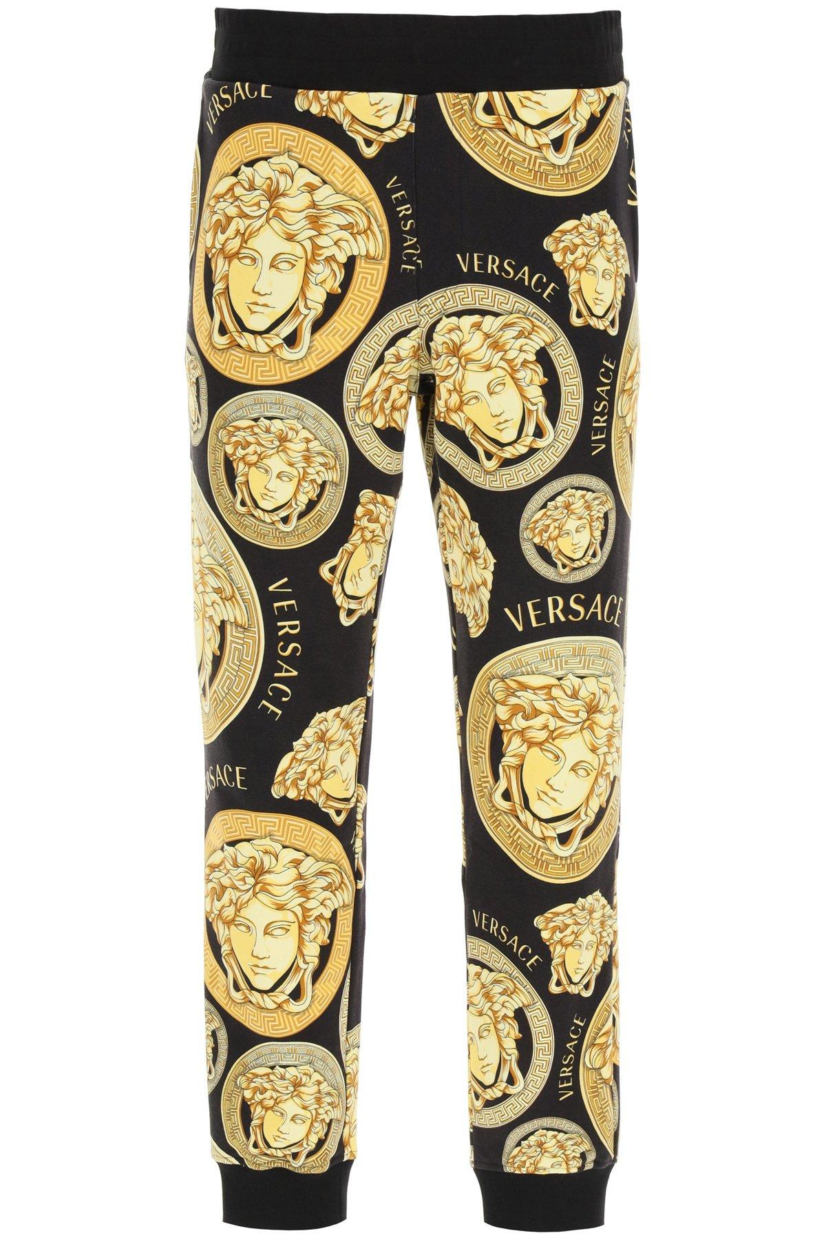Versace pantaloni jogging stampa medusa amplified