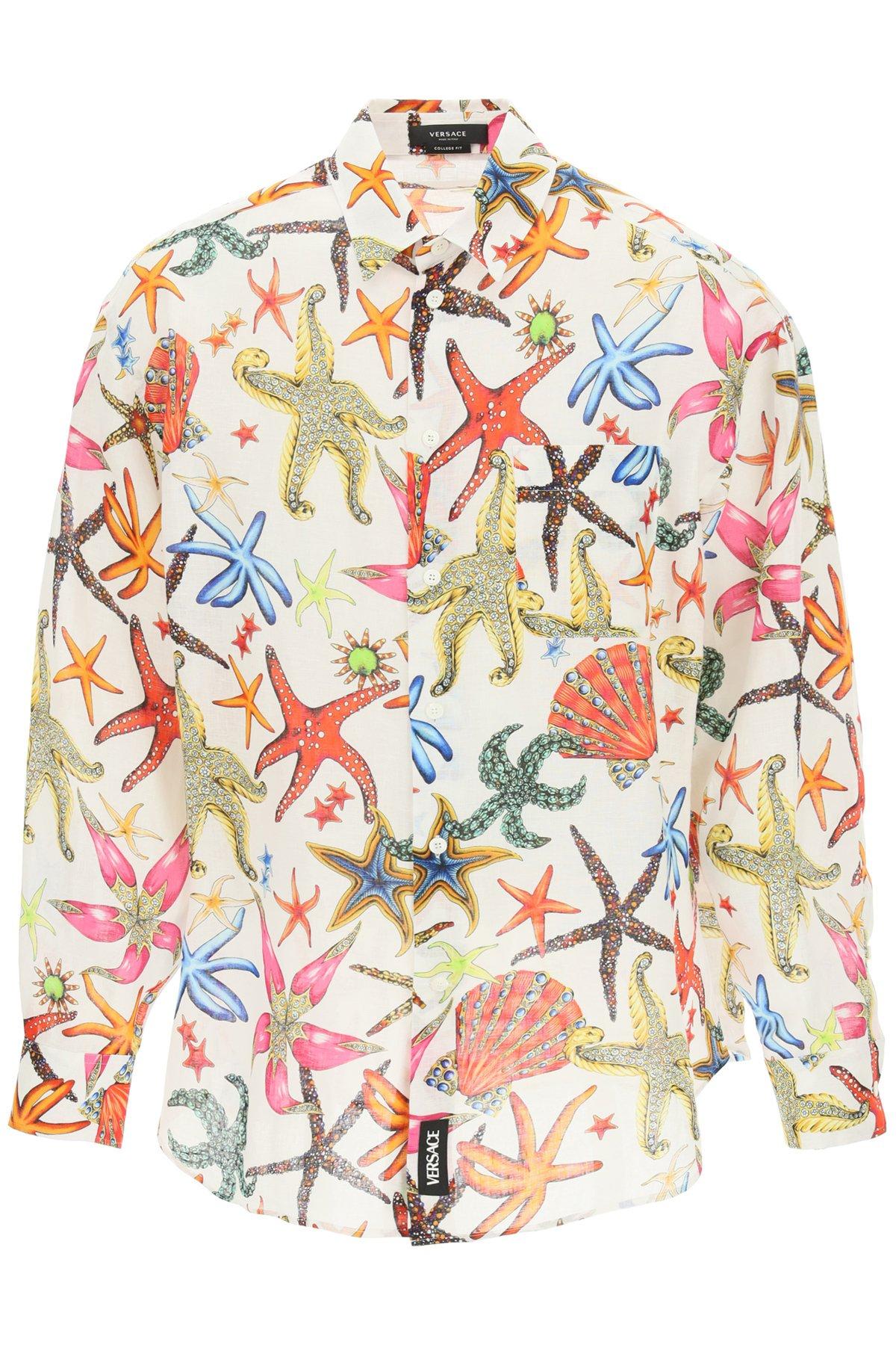 Versace camicia lino tresor de la mer