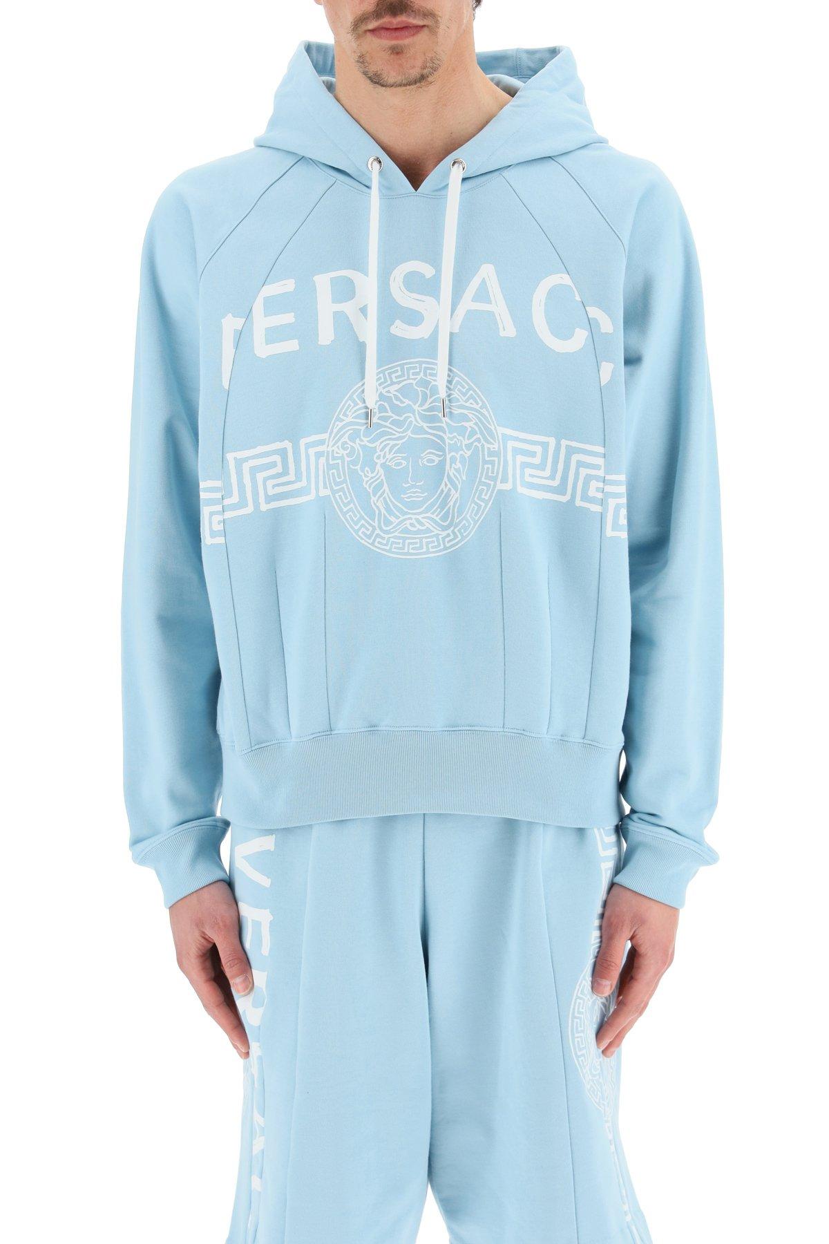 Versace felpa con cappuccio logo medusa