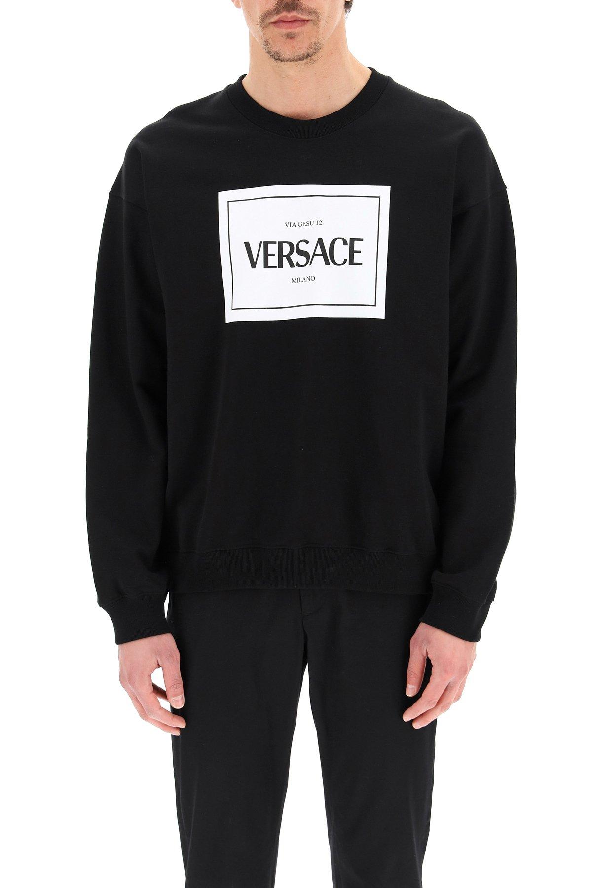 Versace felpa girocollo stampa logo