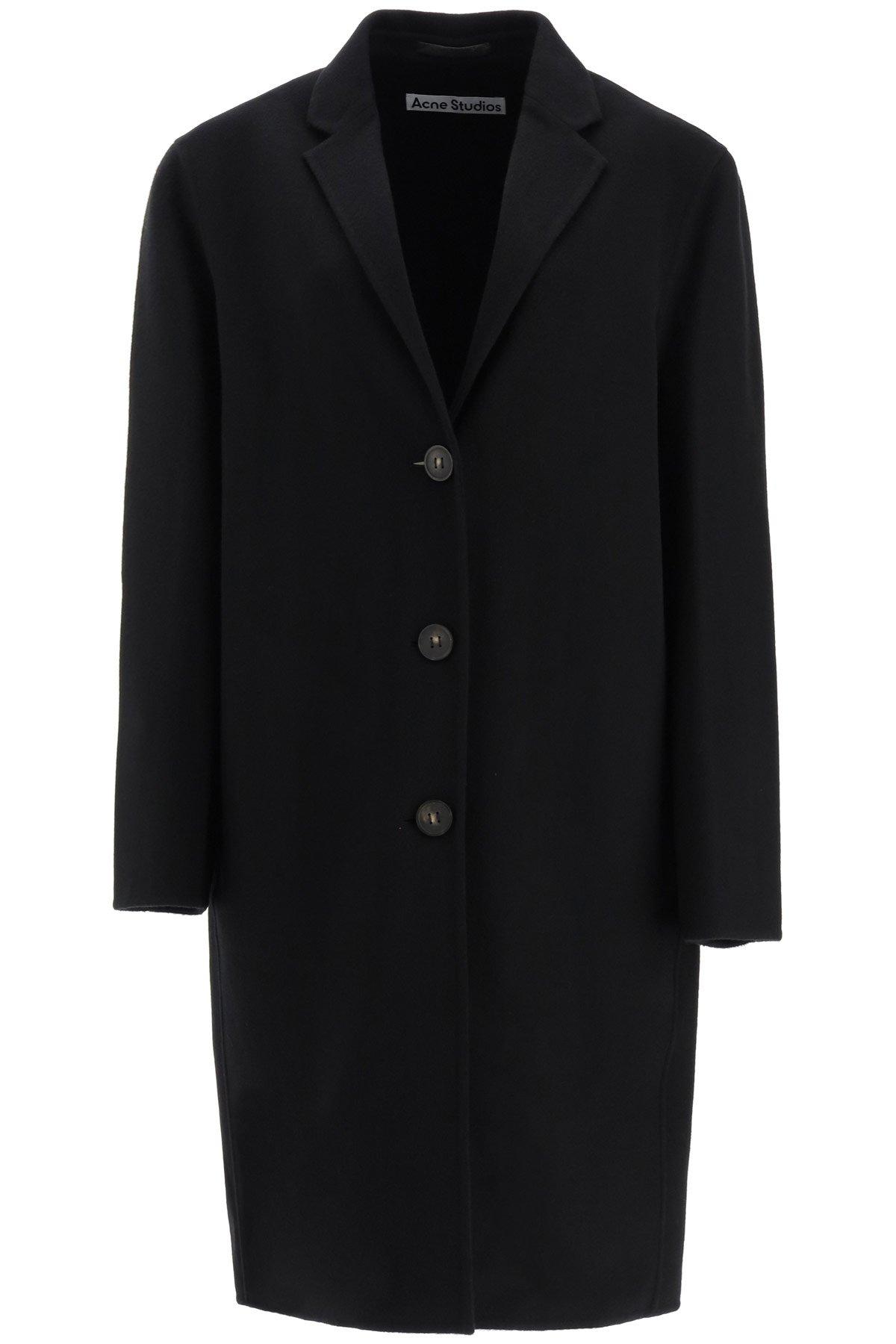 Acne studios cappotto midi in lana
