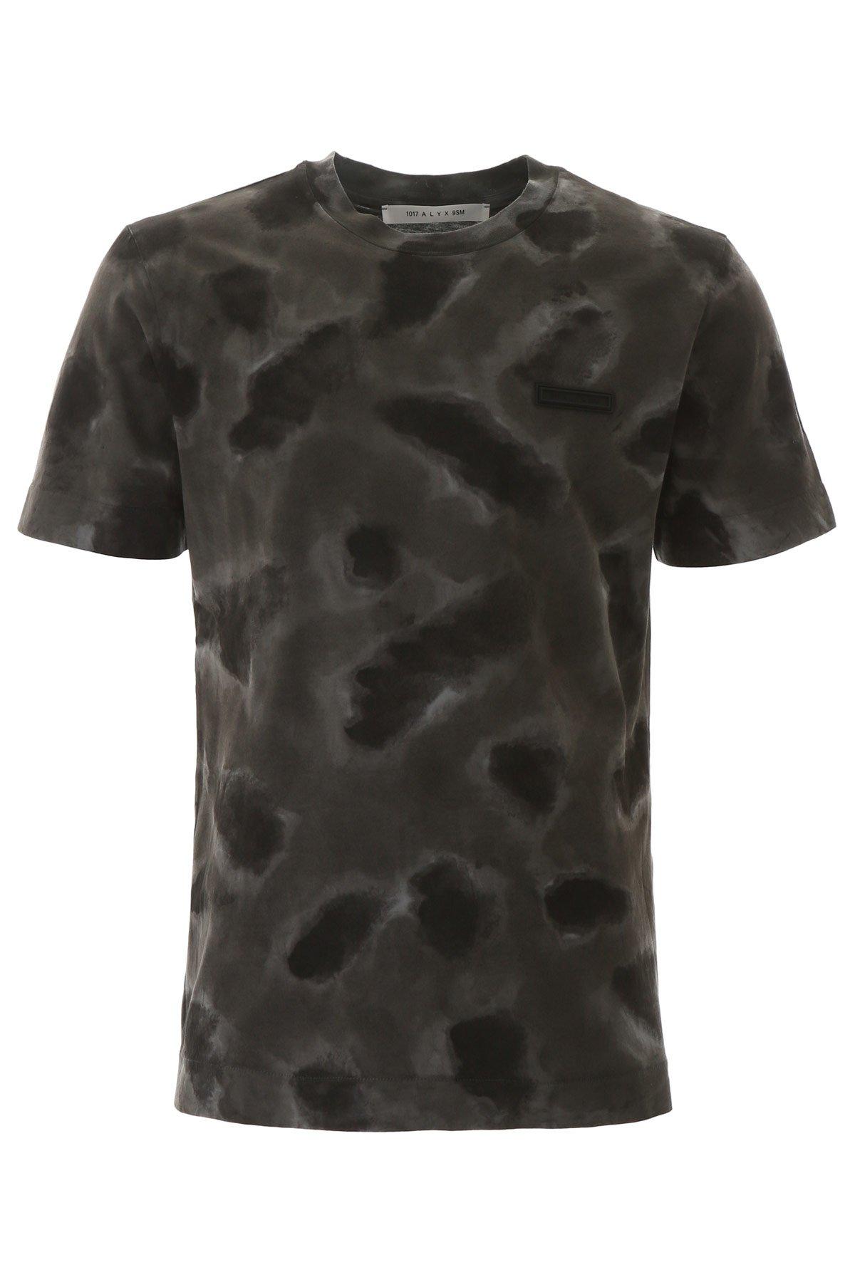 1017 alyx 9sm t-shirt camouflage stampa logo