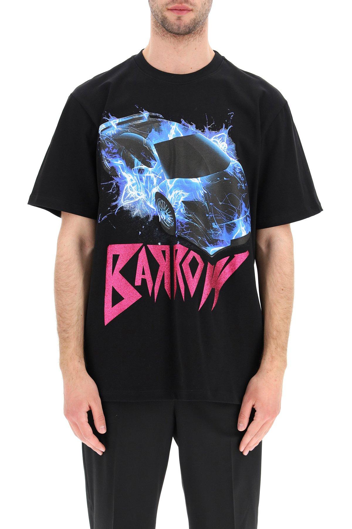 Barrow x sfera ebbasta t-shirt logo glitter