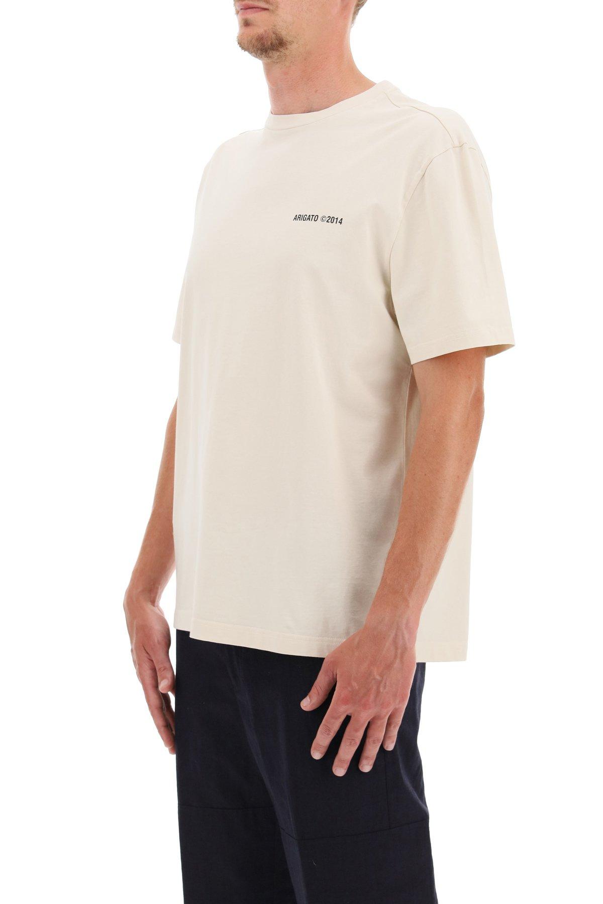 Axel arigato t-shirt london con stampa logo