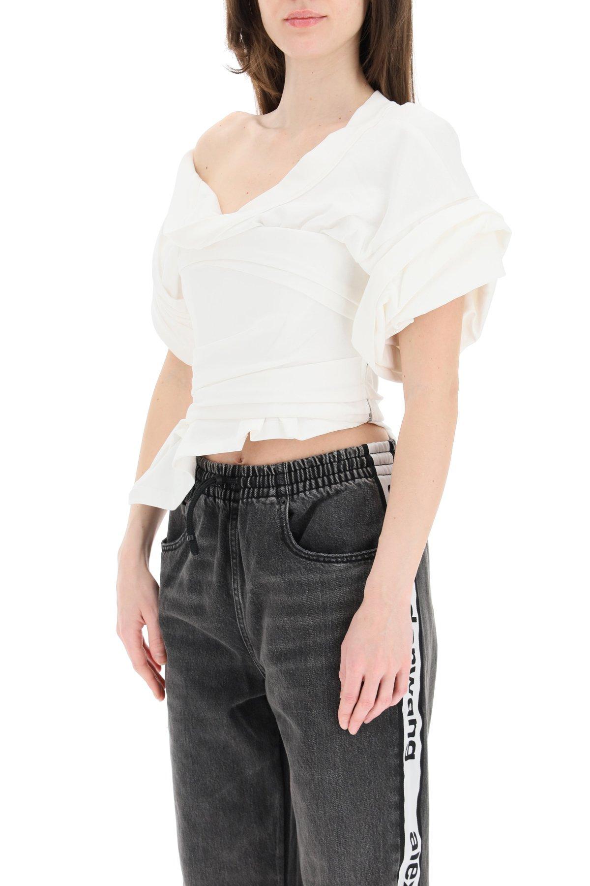 Alexander wang top con corsetto integrato